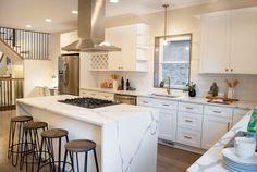 Gorgeous kitchen renovation with bar stools