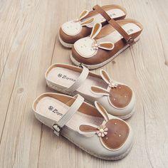 f08b7d67b Mori Retro Cute Bunny Flats Shoes Sweet Tip Bind Sandals