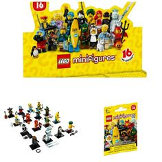 Lego Minifigures Characters Series 16 Collection Mystery Blind Bag #71013 - x10 Sealed Packs Building Toy