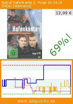 Notruf Hafenkante 2, Folge 14-26 (4 DVDs) [Alemania] (DVD). Baja 69%! Precio actual 13,99 €, el precio anterior fue de 44,99 €. http://www.adquisitio.es/studio-hamburg-alve/notruf-hafenkante-2-folge