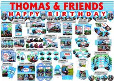 Thomas & Friends Birthday Party Printable Set by PartyPrintLand