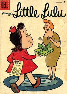 Little Lulu comic books..my very favorite comics growing up  (we had our own little lulu club,,,because it was easy to draw her..... i was president...my sisters were the members )