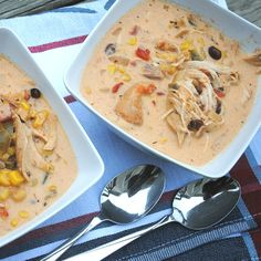 Turkey Taco Soup: great recipe for leftover turkey! made in the Slow cooker!