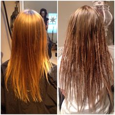 Here is before and after dreads with extensions that I made on @nicoleschmidt yesterday go over to her page to se her pictures of her new dreadlocks