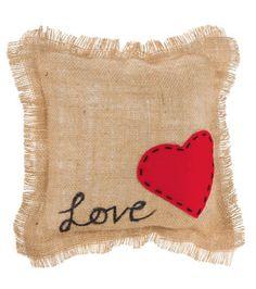 Love Burlap Pillow Tutorial from @joannstores | Heart Pillow | Ring Pillow Ideas