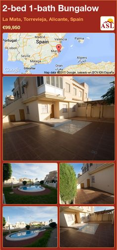 Bungalow for Sale in La Mata, Torrevieja, Alicante, Spain with 2 bedrooms, 1 bathroom - A Spanish Life Valencia, Pool Prices, Portugal, Torrevieja, Bungalows For Sale, Alicante Spain, Spanish House, Bar Areas, Ground Floor