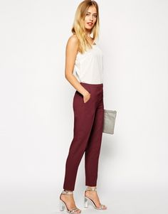 Enlarge ASOS Cigarette Pants In Crepe