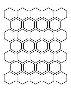 Winckelmans Hexagon Superblanc 50 x 50 x 5 (op net) - Originele en authentieke dubbelhard gebakken Winckelmans hexagon tegel op matje - Printable Shapes, Templates Printable Free, Printables, Hexagon Pattern, Pattern Design, Honeycomb Pattern, Bracelete Tattoo, Hexagon Tattoo, Free Shapes