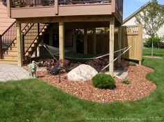 Outdoor BONUS Room ~ Take full advantage of all the space in your yard and incorporate the space under the deck!