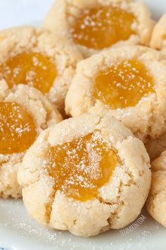 Grain Free Lemon Curd Cookies