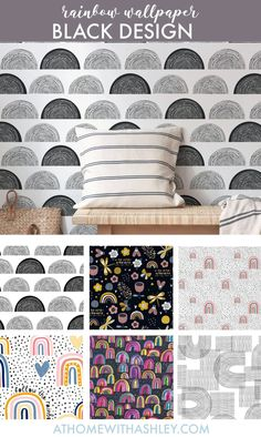 100 of the cutest rainbow wallpapers! You could put it on an accent wall, or go crazy and put it on the ceiling. If you prefer it for walls, there are tons of cute options with lots of different aesthetics to choose from. I'm loving #7, which is so cute and pastel! #rainbowwallpaper #wallpaperforwalls #rainbowdecor #accentwallwallpaper