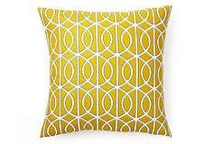 Pillow cover Cushion cover 20x20  geometric, gate, porte bella citrine. $35,00, via Etsy.