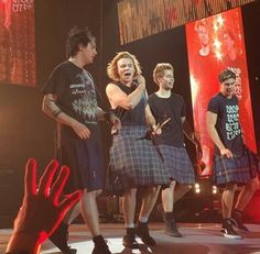 Calum is literally wearing the same tartan that is on my school skirt