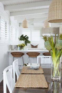 Coastal-Inspired Decor, Beachy decor, vacation feel, relaxing beach feel, blue and white decor, ocean-inspired textures