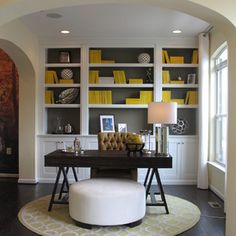 41 Trendy Home Office Furniture Layout Ottomans Home Office Space, Home Office Design, Home Office Decor, Home Design, Home Decor, Office Designs, Design Ideas, Design Inspiration, Office Spaces