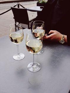 Image via We Heart It #friends #wine
