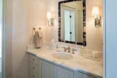 DSC0025T 620x413 Southern Livings Idea House at Fontanel: Farmhouse Chic Like the mirror placement with the lights for long vanity