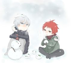 雪うさぎ黛赤 動いたらしぬ