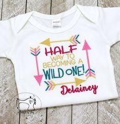 Girls Half Birthday Shirt Bodysuit 1