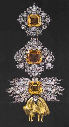 Jewel of the Order of the Golden Fleece 'from Brazilian Yellow Topaz' Pallard, Jean Jacques (goldsmith) Geneva or Vienna, 1755/56