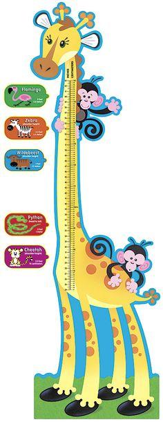 Giraffe Growth (Monkey Mischief) Chart Bulletin Board Set (T-8176) #classroom #decor #AILtyler