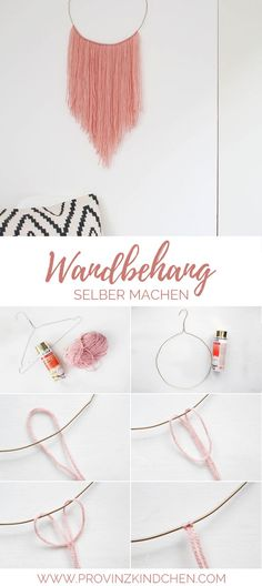 make tapestry yourself from wire hangers and wool. DIY Boho W Upcycling: make tapestry yourself from wire hangers and wool. DIY Boho W . -Upcycling: make tapestry yourself from wire hangers and wool. DIY Boho W . Diy Hanging Shelves, Boho Wall Hanging, Pot Mason Diy, Mason Jar Crafts, Boho Diy, Boho Decor, Diy Décoration, Easy Diy, Sell Diy