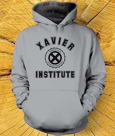 XAVIER INSTITUTE HOODIE Inspired by X-Men Hoody comes in a choice of 16 Colours