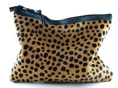 Animal printed calf hair! The Love,Cortnie 'Spotted ll' Calf Hair Leather Statement Clutch on Etsy
