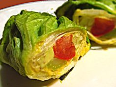 Hummus Sandwich Wraps [Low fat raw vegan recipes]      Tomatoes      Cucumbers      Avocado (Small amounts, since it is not low fat)      Green onion      Celery      Bell Peppers      Baby Spinach      Raw Mushrooms      Carrot      Raw Asparagus