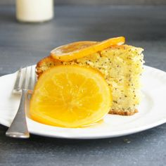 Your Sunday baking is sorted with this Moist Orange Poppy Seed Cake by Three Littlies.