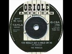 November 9, 1962  YOU' VE REALLY GOT A HOLD ON ME Released this date