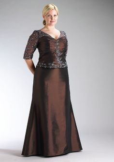 Classic, plus-size formal gown for Mother of the Bride or Groom. Dress style #965. | Bridal Party Fashions