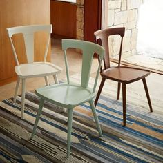 Really really love the shape of these dining chairs, gorgeous legs and they come in such pretty colors! (affiliate)
