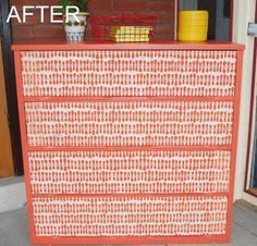 Before & After: A Chest of Drawers Gets Paper Sourced — Fine Diving   Apartment Therapy