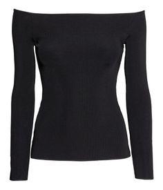 Off shoulders paita - musta, koko L tai XL, kumpi sattuu löytymään - 9e