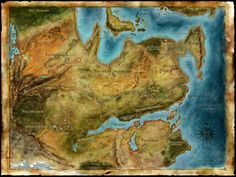 Thedas, a continent in the southern Hemisphere, and the only known continent of the Dragon Age universe, upon which all of the Dragon Age games are set.