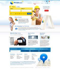 BizcardSearch.ca - Business card directory by Roman Káčerek, via Behance