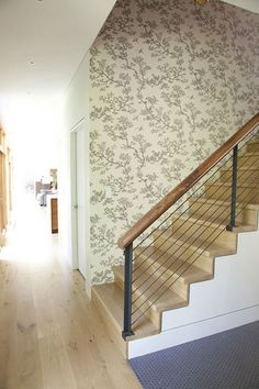 Modern Wood Stairs Design, Pictures, Remodel, Decor and Ideas - page 8 House Staircase, Staircase Railings, Staircase Design, Stairways, Stair Design, Railing Design, Banisters, Stairway Walls, Wood Stairs
