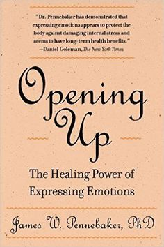 Opening Up The Healing Power Of Expressing Emotions By James W. Pennebaker, Ph. D. Paperback
