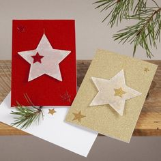 Paper Craft Christmas Cards Paper Craft Christmas Cards Glittery Christmas Cards With Hanging Vellum Paper Stars Diy Guide Cute Christmas Decorations, Creative Christmas Trees, Christmas Card Crafts, Homemade Christmas Cards, Diy Crafts For Bedroom, Easy Diy Crafts, Diy Crafts Videos, Diy Crafts To Sell, Star Diy