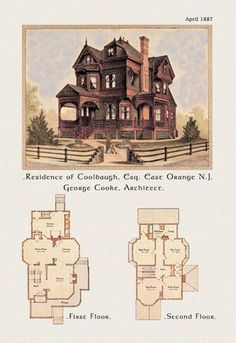 Residence of F. W. Coolbaugh Esquire 24x36 Giclee