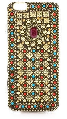 Raga Stone Encrusted iPhone Case. An intricate mix of colorful enamel and gold-tone embellishment.