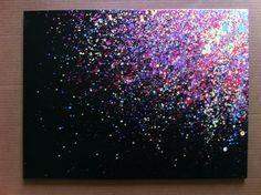 Lona de salpicaduras de pintura de 18 x 24 por EASERR en Etsy