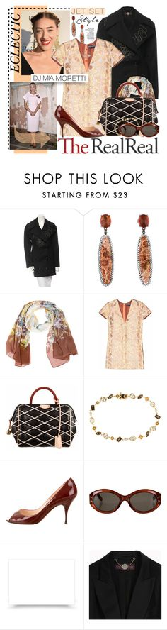 """""""Jet Set Style With DJ Mia Moretti & The RealReal: Contest Entry"""" by designsbytraci ❤ liked on Polyvore featuring STELLA McCARTNEY, Loro Piana, Rochas, Louis Vuitton, Hammerman, Christian Louboutin and Fendi"""