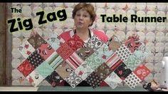 Zig Zag Charm Pack Table Runner, via YouTube.