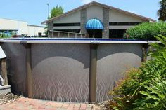 Above Ground Pool In Pools Spa Furniture Outdoor Storage Bo Piscine Hors Sol Outside Crates