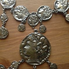 Greek coin necklace Pretty heavy but stylish for dressing up/costume parties Jewelry Necklaces