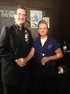 Billy Fury fans - Daniel Heeney and Gavin Stanley Skelhorn.