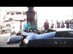 Taiwanese authorities destroy Lamborghini Murciélago as punishment for a crime. Too Harsh!!