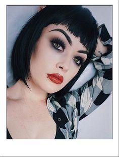 Jessie J Wig    Classic sleek, black bob cut wig with blunt fringe, based on Jessie J's original style.  Modelled by the show-stopping @billieadele
